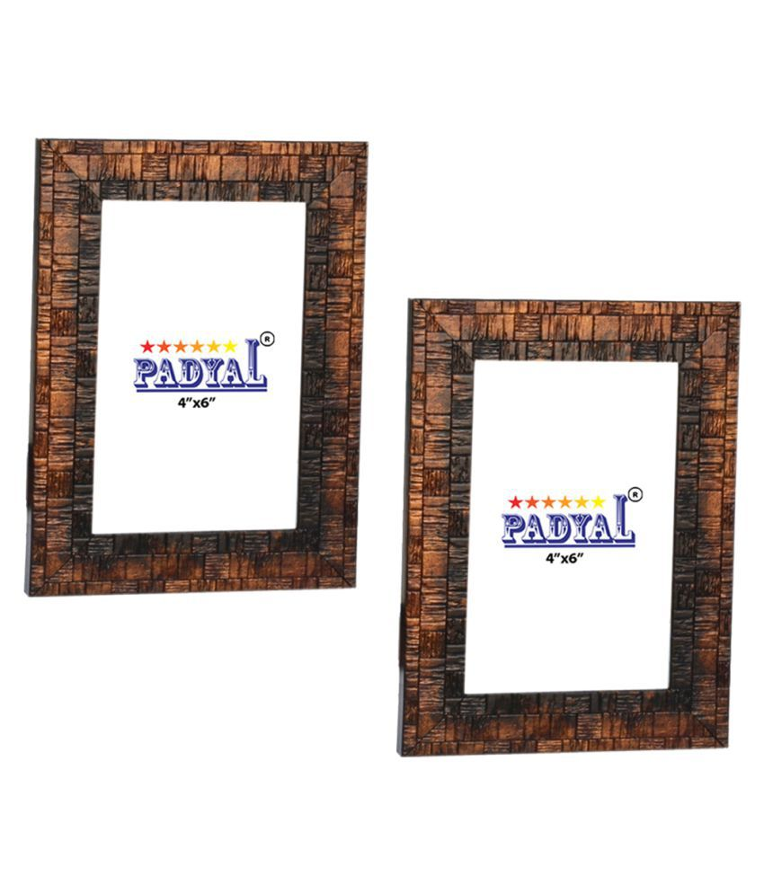 PADYAL Wood Table Top & Wall hanging Antique Photo Frame Sets - Pack of 2