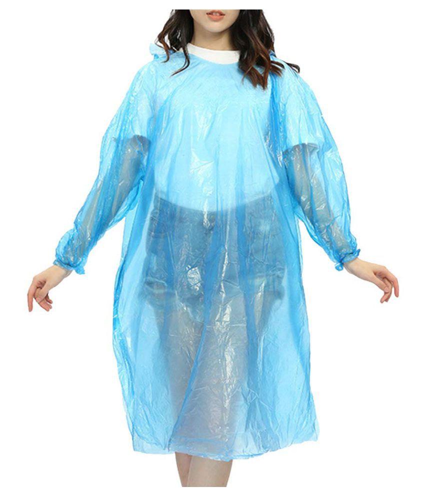 ST Waterproof Long Raincoat - Blue
