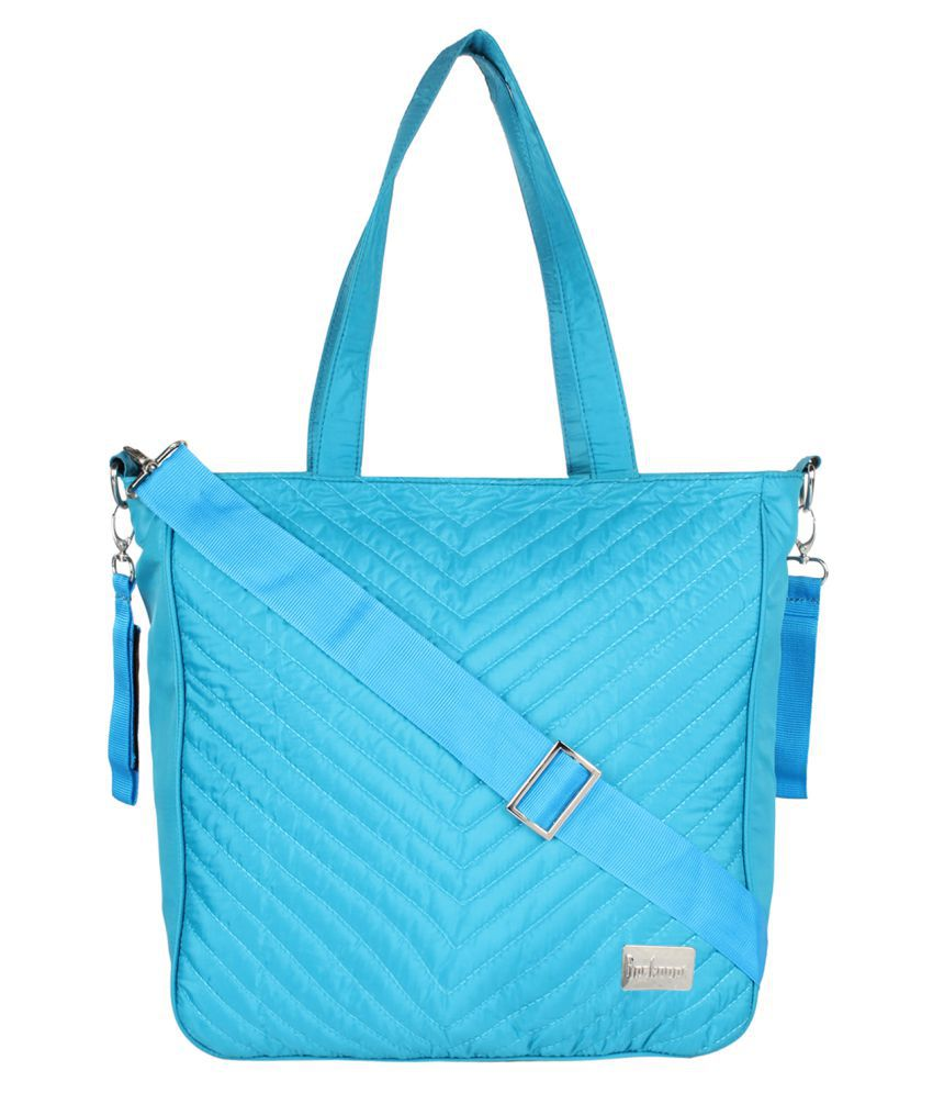 Anekaant Turquoise Polyster Shoulder Bag