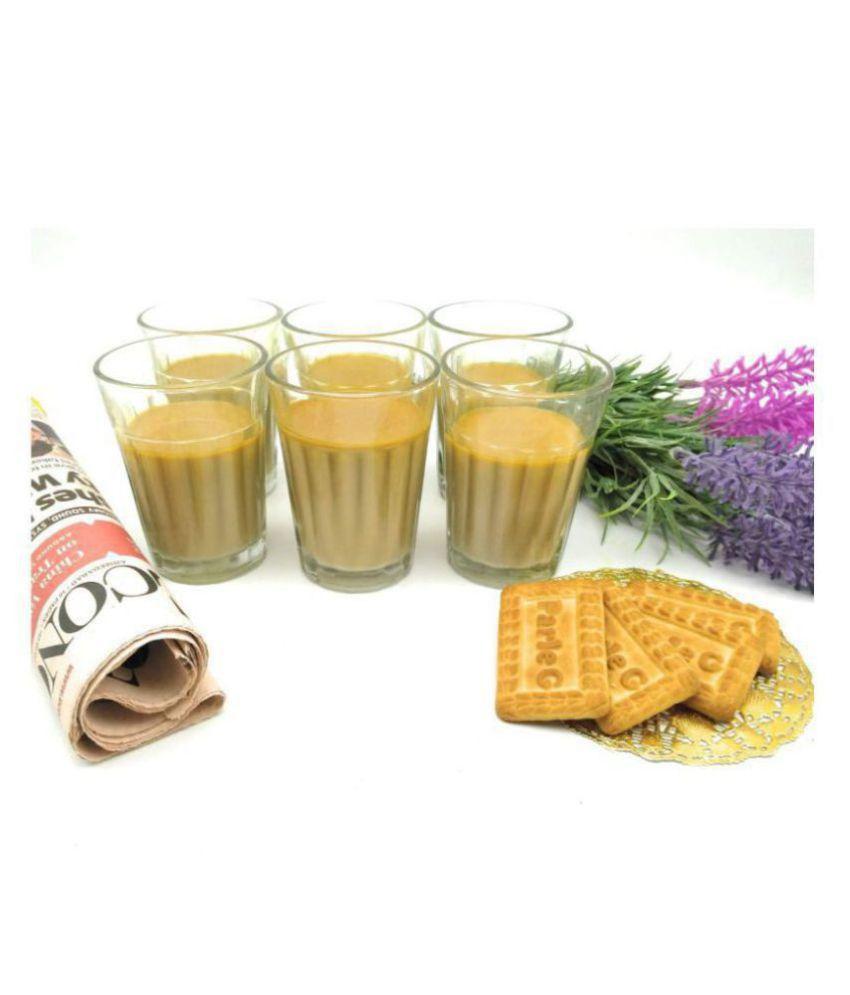 Satyam Kraft Glass Tea Cup 6 Pcs 100 ml