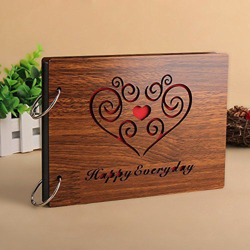 Electo Mania Wood Brown Photo Album - Pack of 1