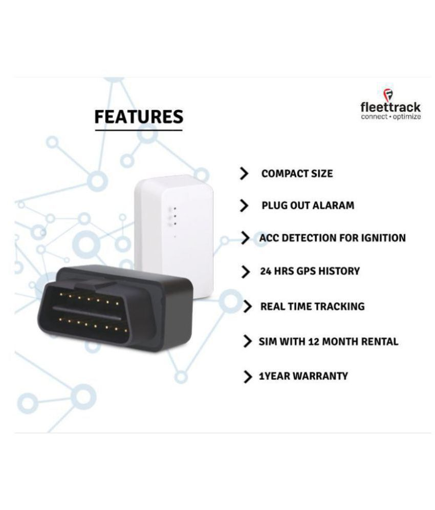 Fleettrack Vehicle OBD Port GPS Tracker on