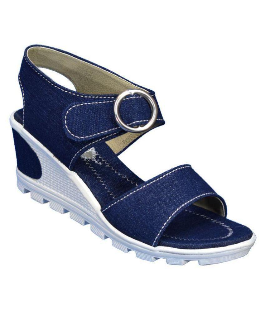IndiForce Blue Wedges Heels