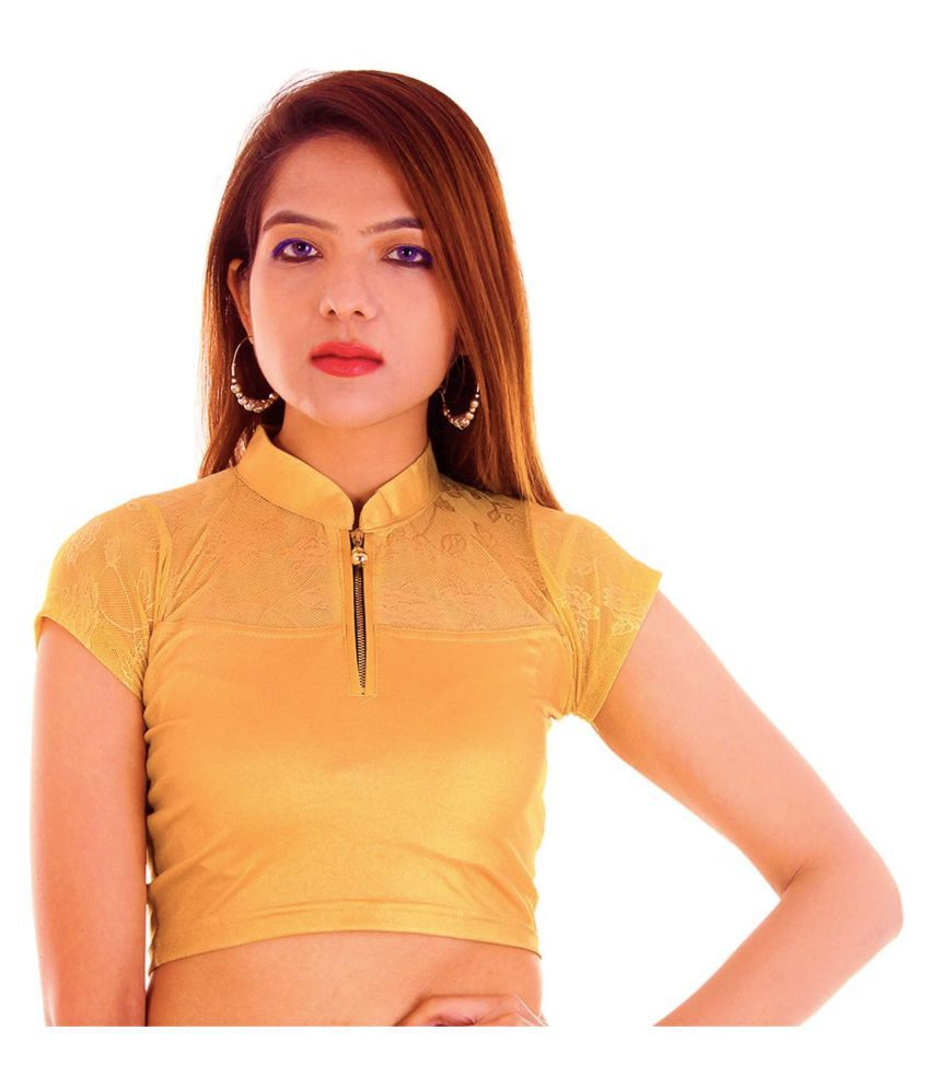 2ace6429f49f79 RAJA Gold Net Readymade without Pad Blouse - Buy RAJA Gold Net Readymade  without Pad Blouse Online at Low Price - Snapdeal.com