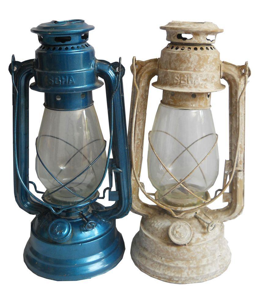 Trovay Lantern 13-inch (Uses Lamp Oil or Kerosene) by Kerosene Lantern Set of  2 Hanging Lanterns 33 - Pack of 2