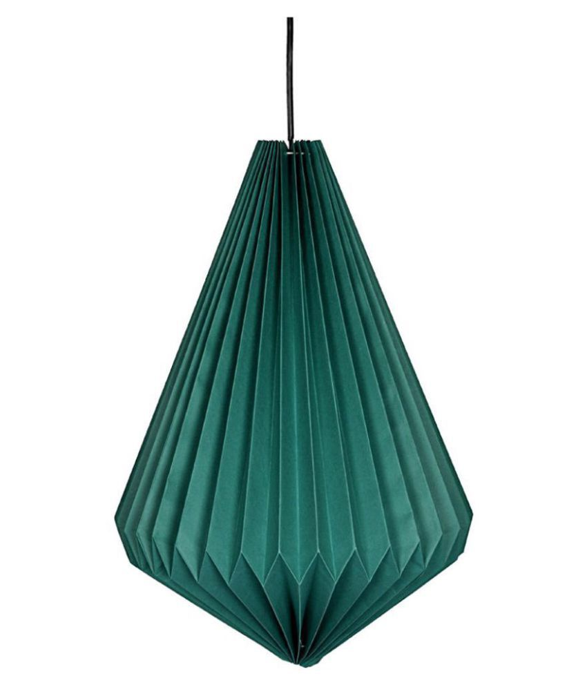 Lal Haveli Paper Decorative Hanging Lamp Night Light  Pendant Green - Pack of 1