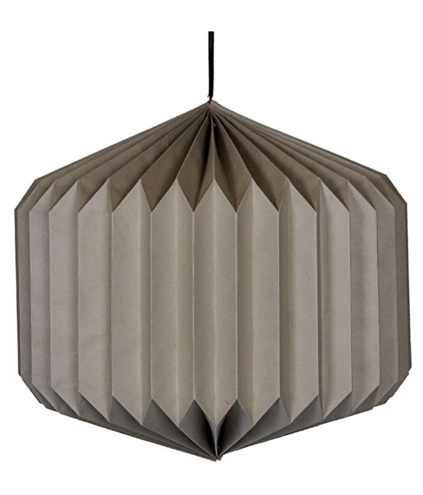Lal Haveli Paper Decorative Hanging Lantern Ceiling Lamp Pendant Gray - Pack of 1