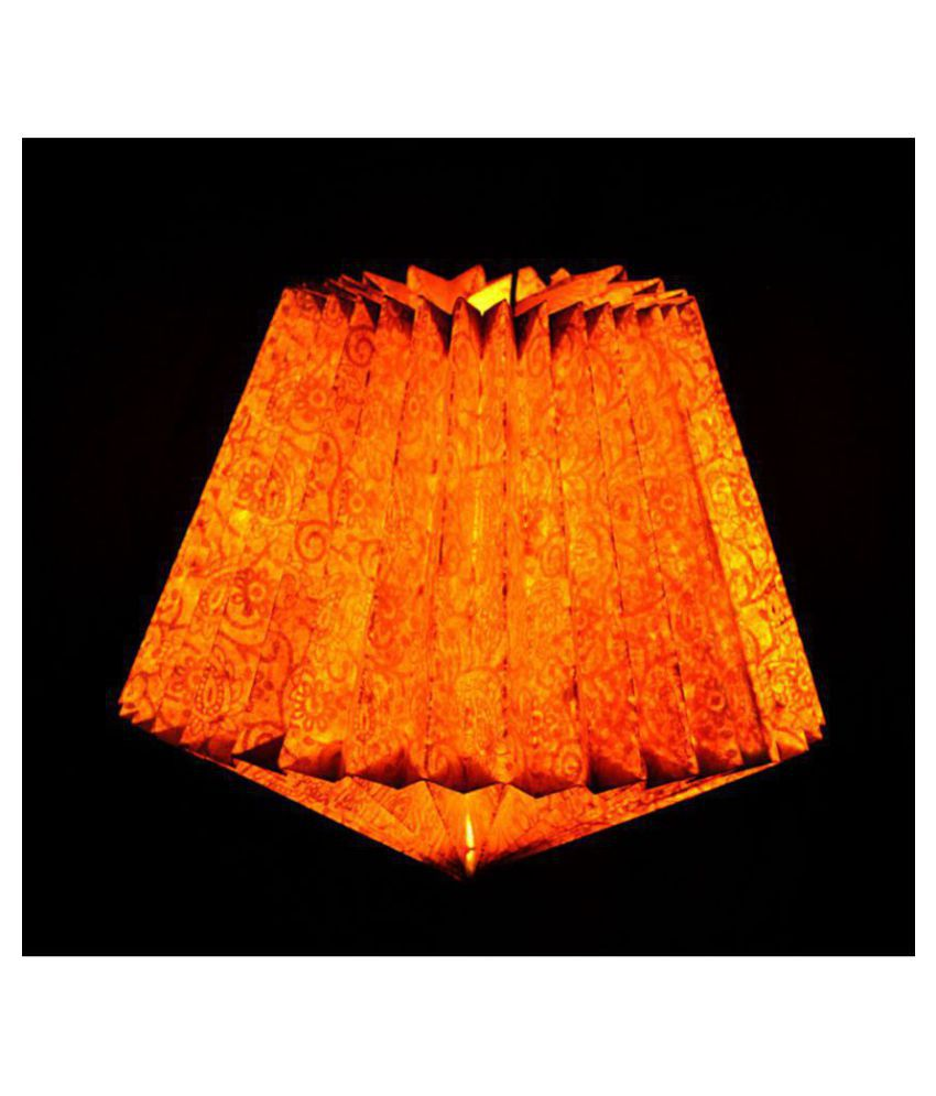 Lal Haveli Paper Decorative Hanging Lamp Night Light Pendant Gold - Pack of 1