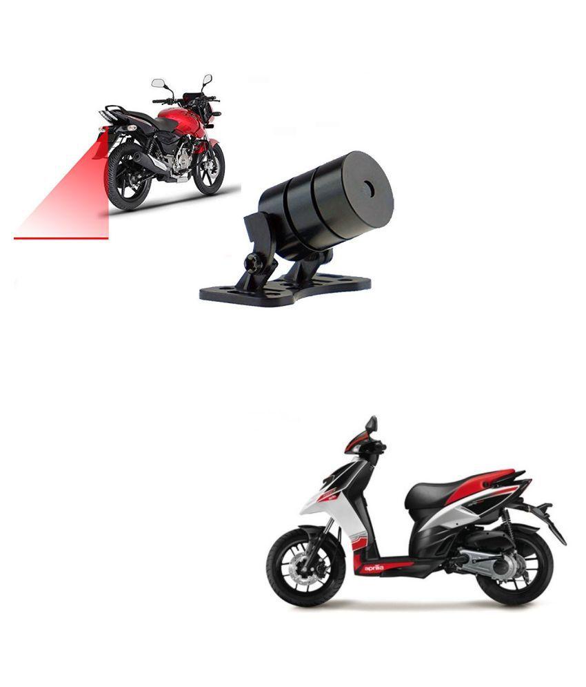 Auto Addict Scooty Styling Led Laser Safety Warning Lights Fog Lamp,Brake Lamp,Running Tail Light-12V For Aprilia SR 125