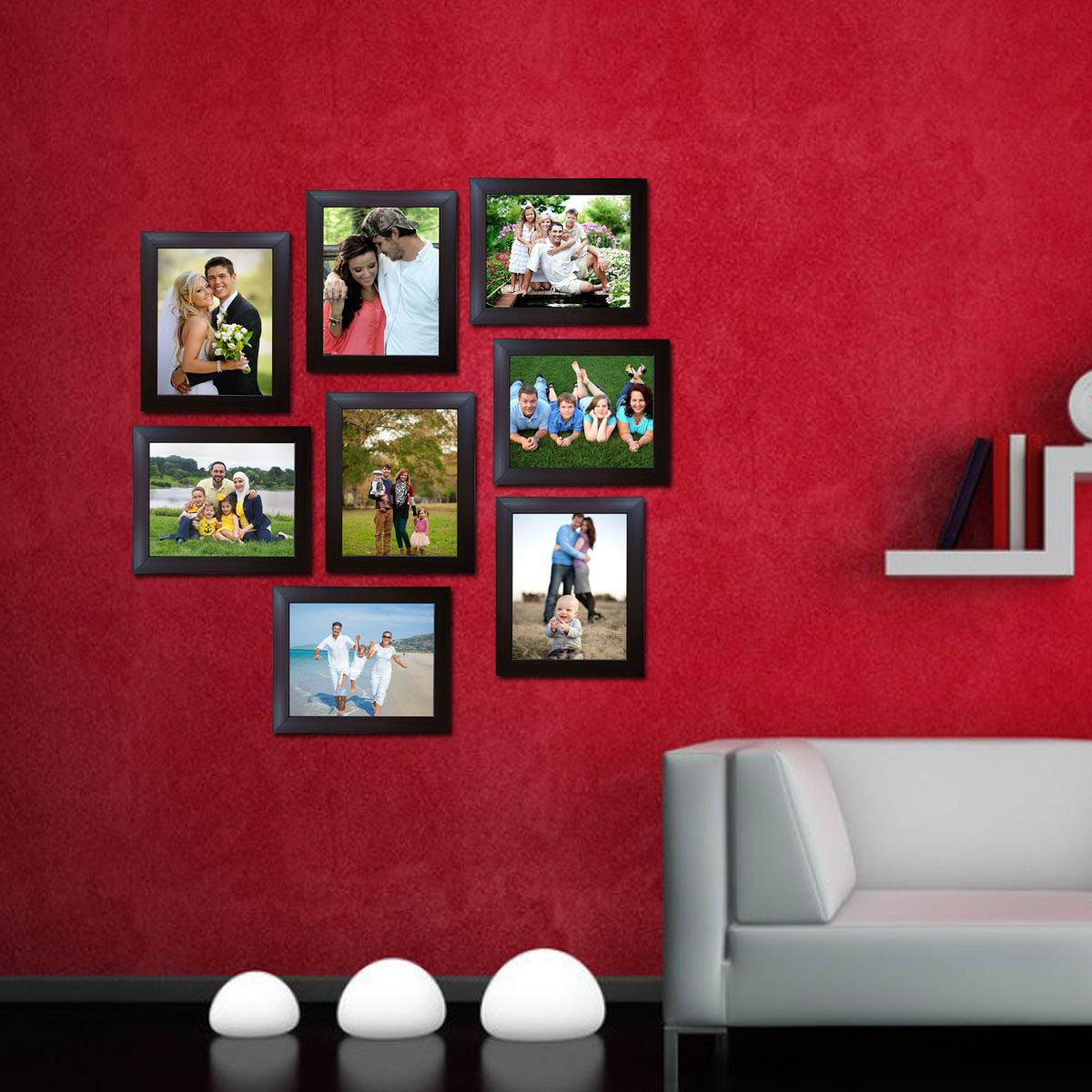 Decora Acrylic Brown Photo Frame Sets - Pack of 8