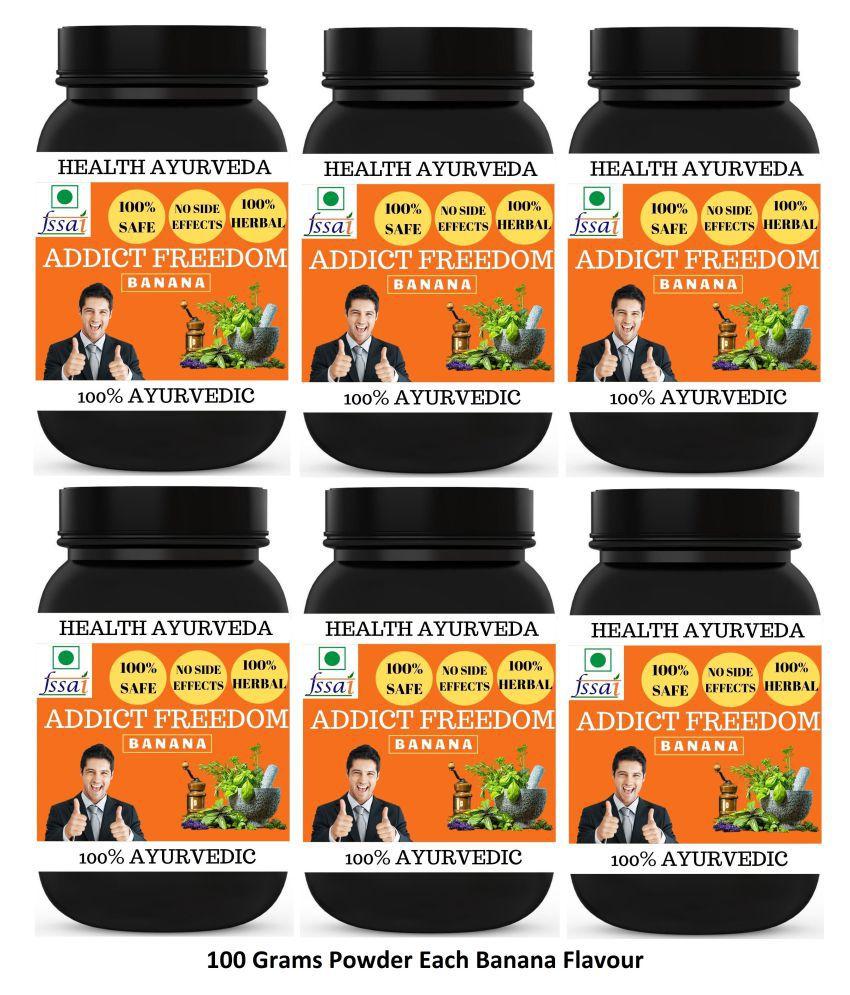 Health Ayurveda Addict Freedom | Free From Addiction Powder 600 gm Pack Of 6