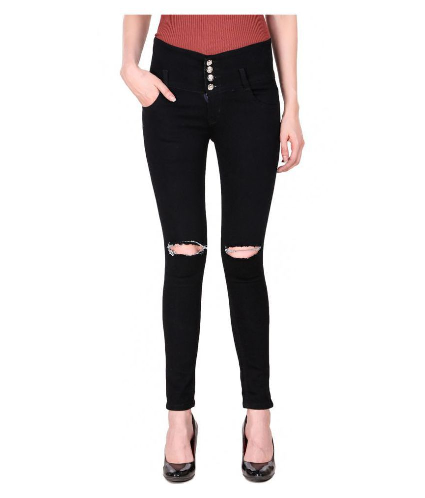 Ansh Fashion Wear Denim Jeans - Black