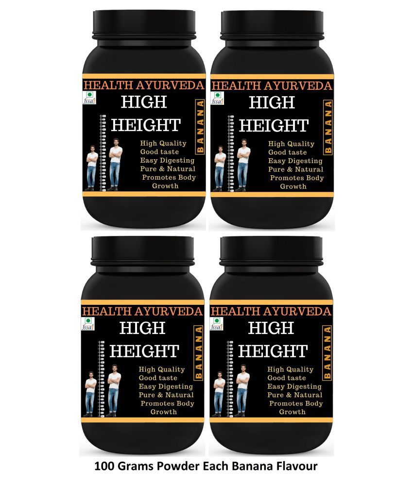Health Ayurveda High Height | Height Increase Powder 400 gm Pack Of 4