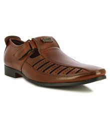Alberto Torresi Brown Faux Leather Sandals