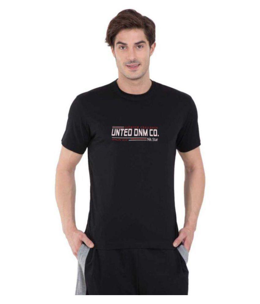 BEST FRIENDS FOREVER Cotton Blend Black Printed T-Shirt