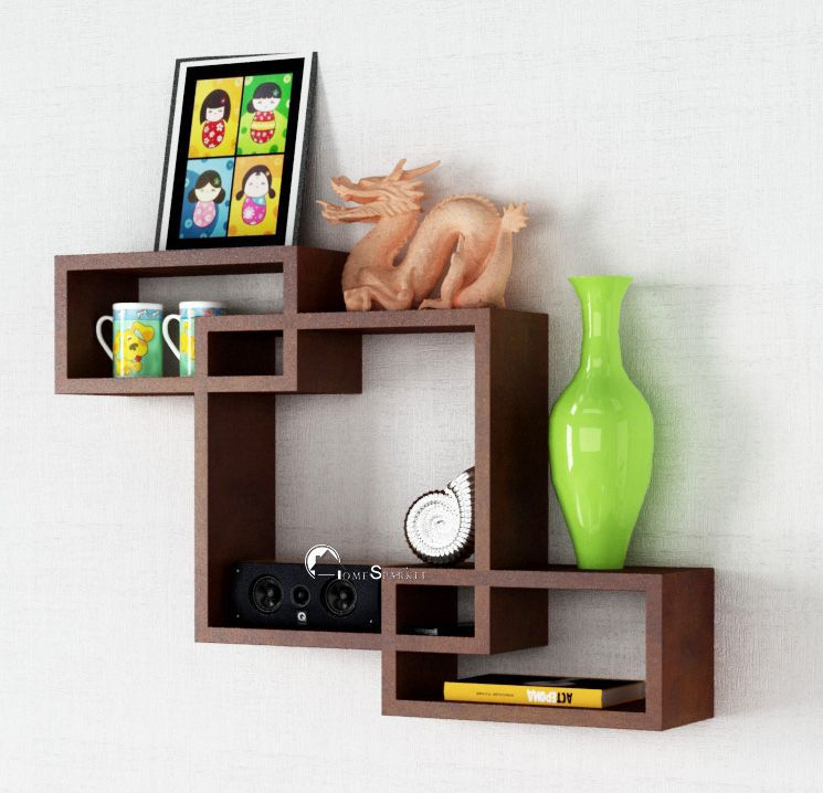 Home Sparkle MDF Mozaic Shelf For Wall Décor  Suitable For Living Room/Bed Room  Designed By Craftsman