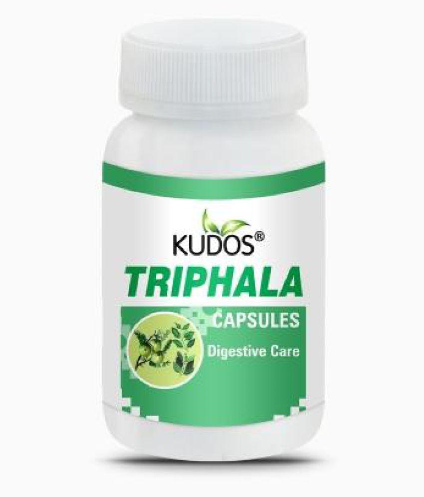 Kudos Ayurveda Triphala DS for Digestive Care Capsule 60 gm