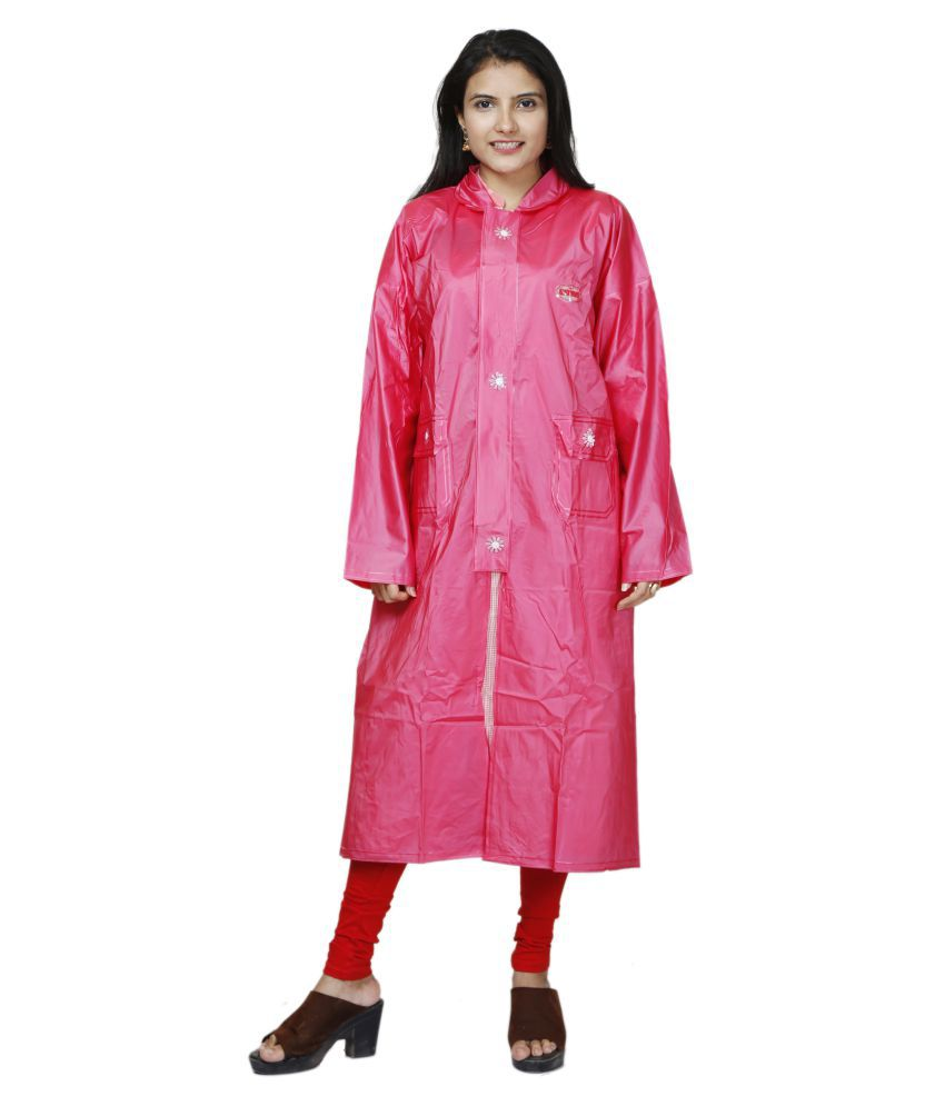 BTC SATYAM PVC Long Raincoat - Pink