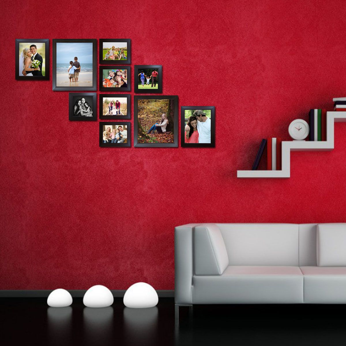 Decora Acrylic Brown Photo Frame Sets - Pack of 10