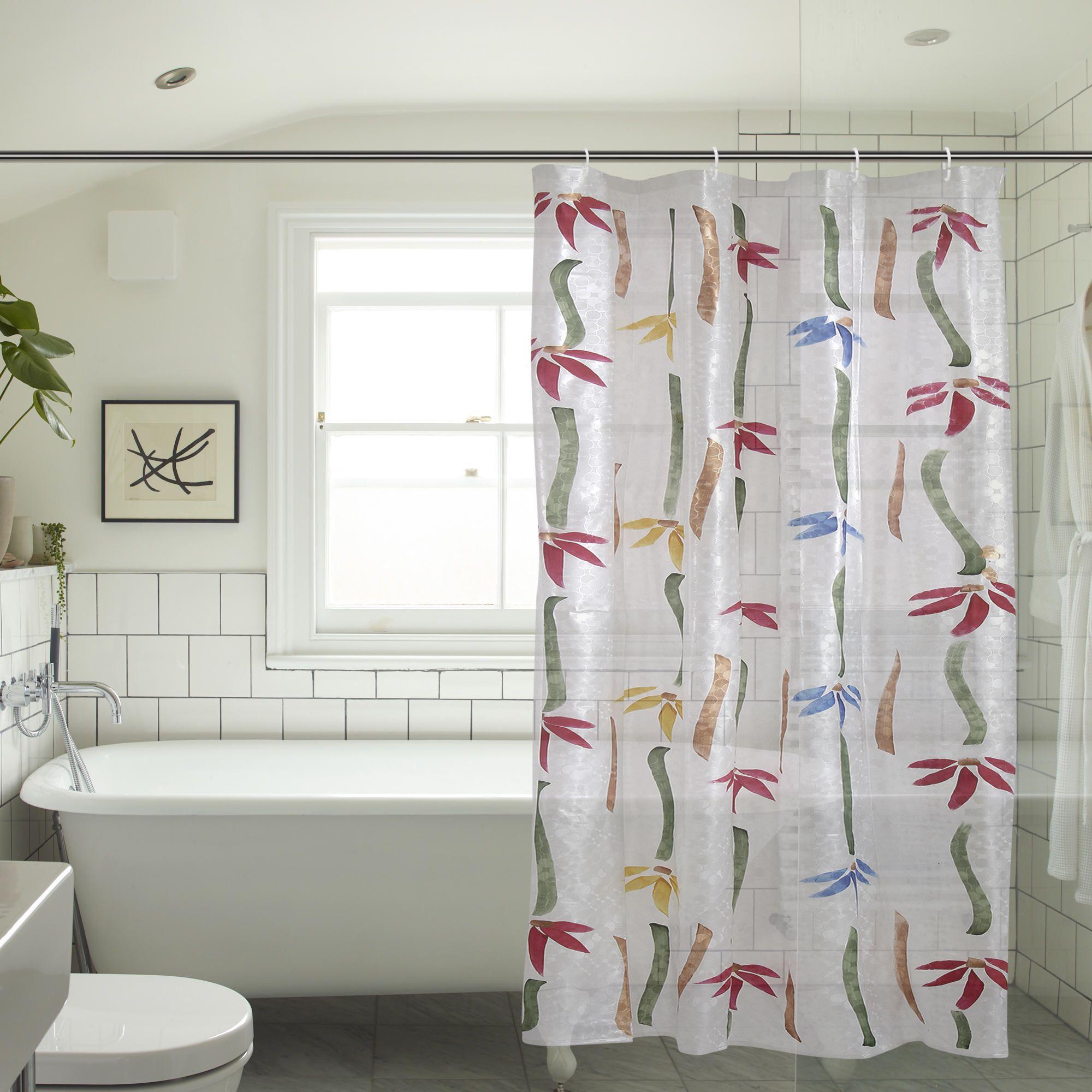 Khushi Creation Set of 2 Door Semi-Transparent Rod Pocket PVC Curtains Multi Color