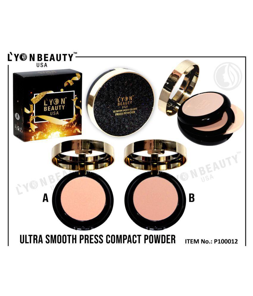 LYON BEAUTY,USA Pressed Powder Shade no. B SPF 15 100 g