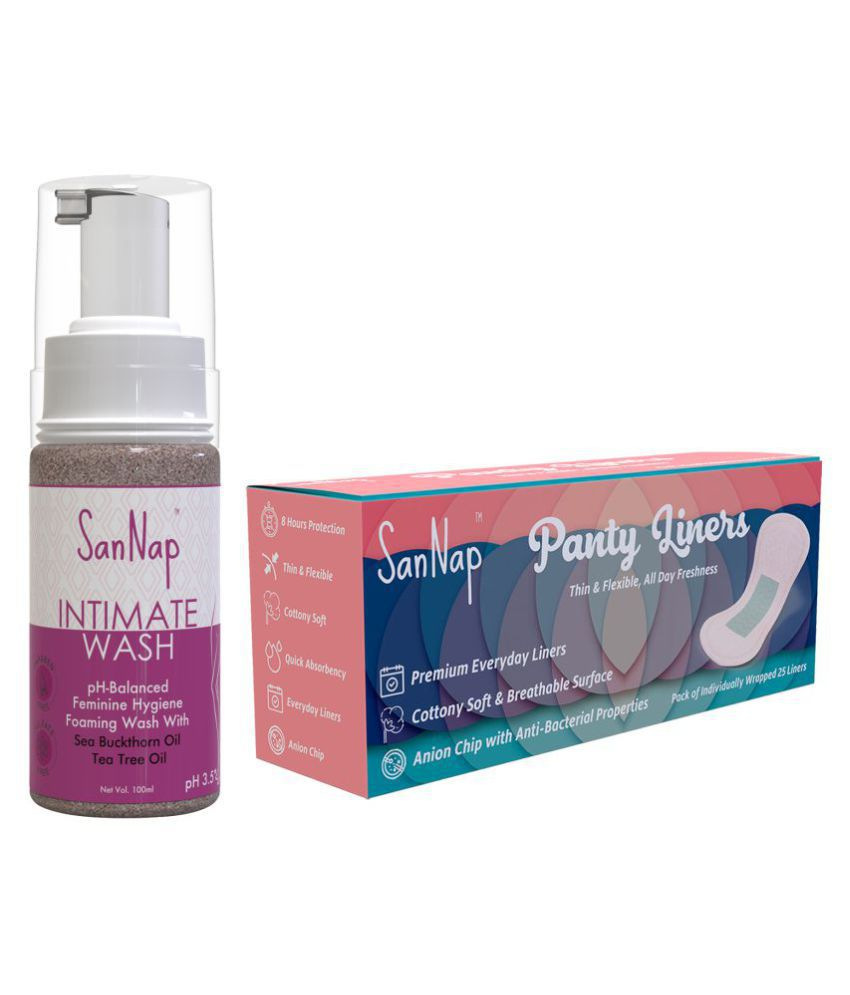 SanNap Intimate Cleansing Foam 100 gm Pack of 2