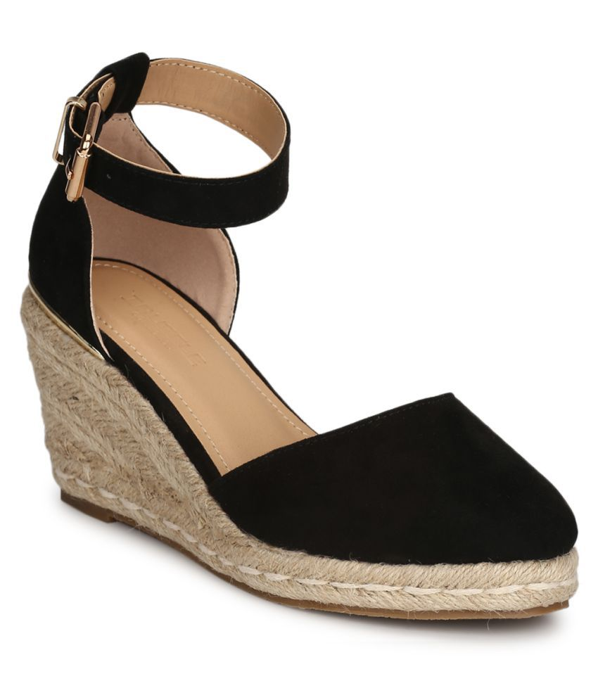 Truffle Collection Black Wedges Heels