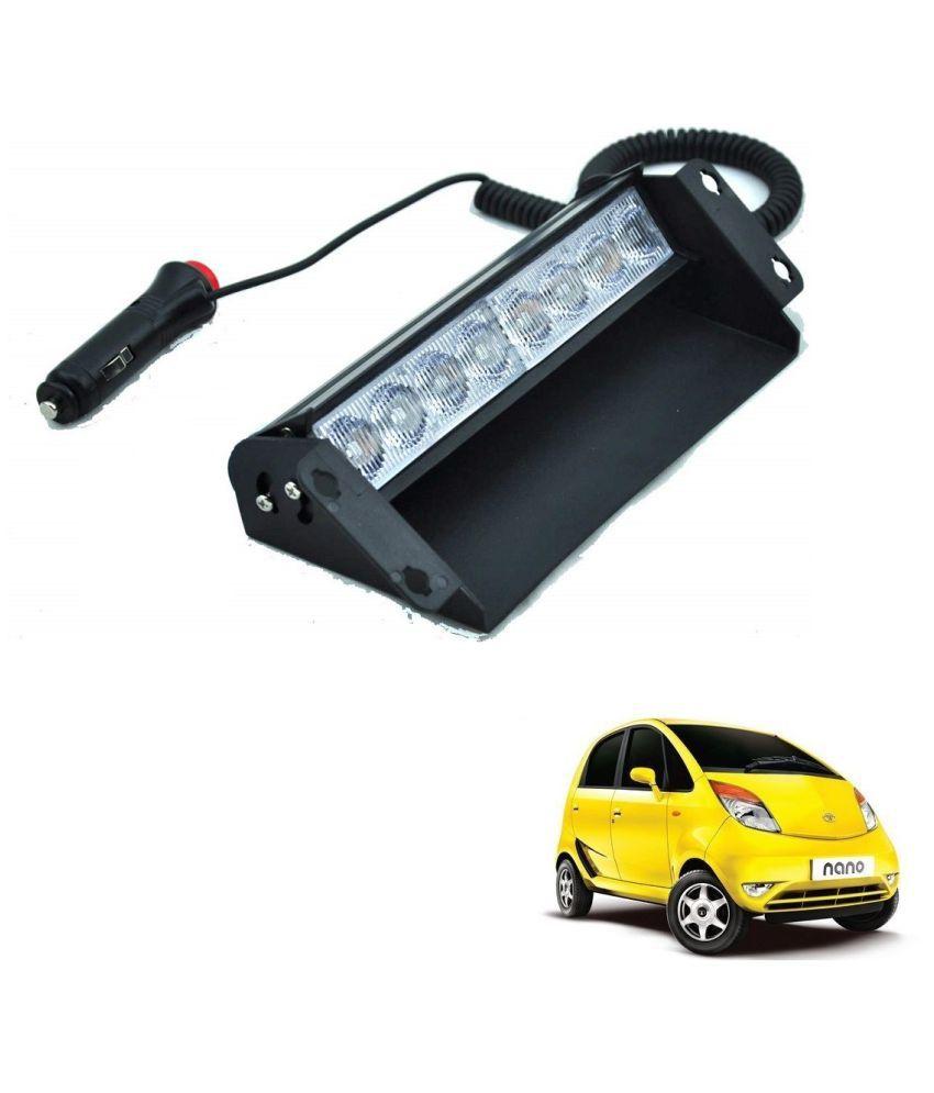 Auto Addict Car 8 LED Police Lights Flasher Light Red Blue Interior Lighting For Tata Nano