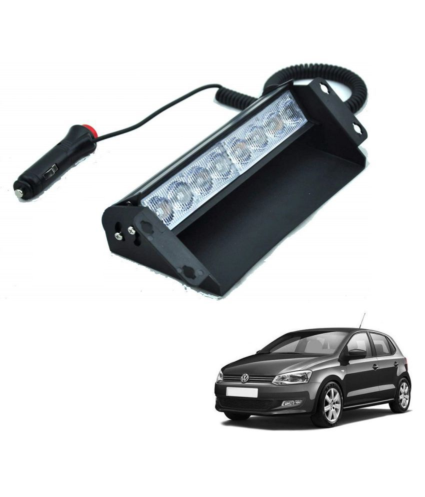 Auto Addict Car 8 LED Police Lights Flasher Light Red Blue Interior Lighting For Volkswagen Polo
