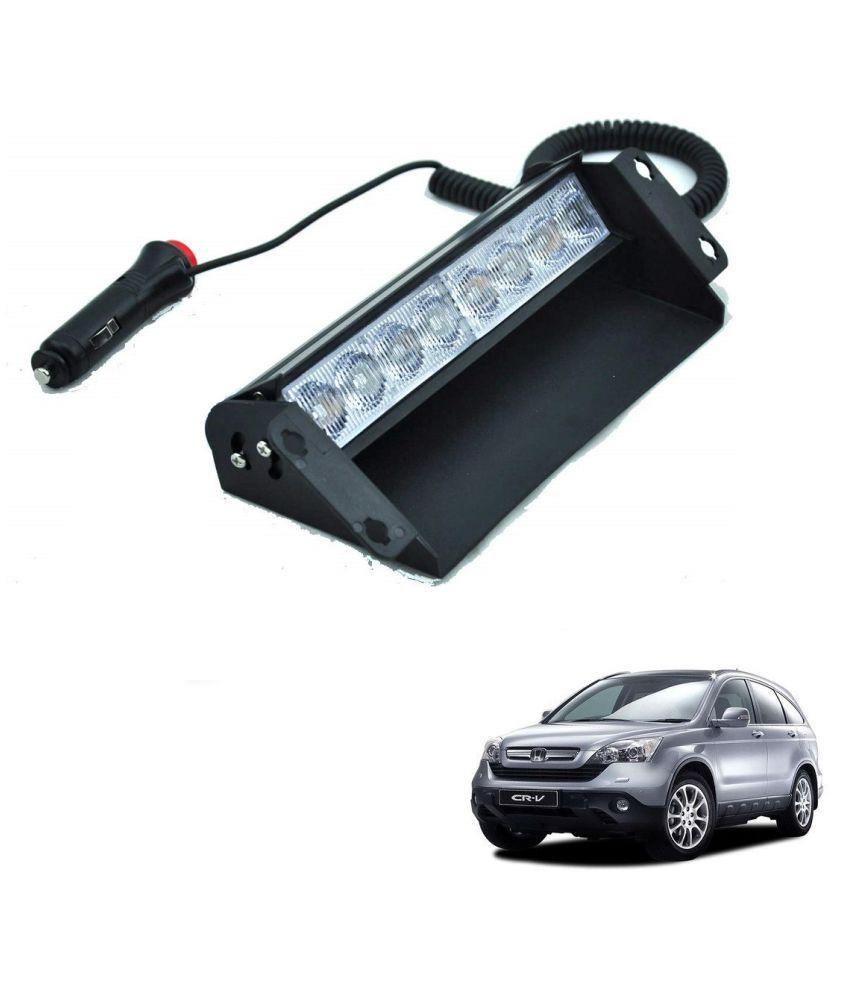 Auto Addict Car 8 LED Police Lights Flasher Light Red Blue Interior Lighting For Honda CR-V