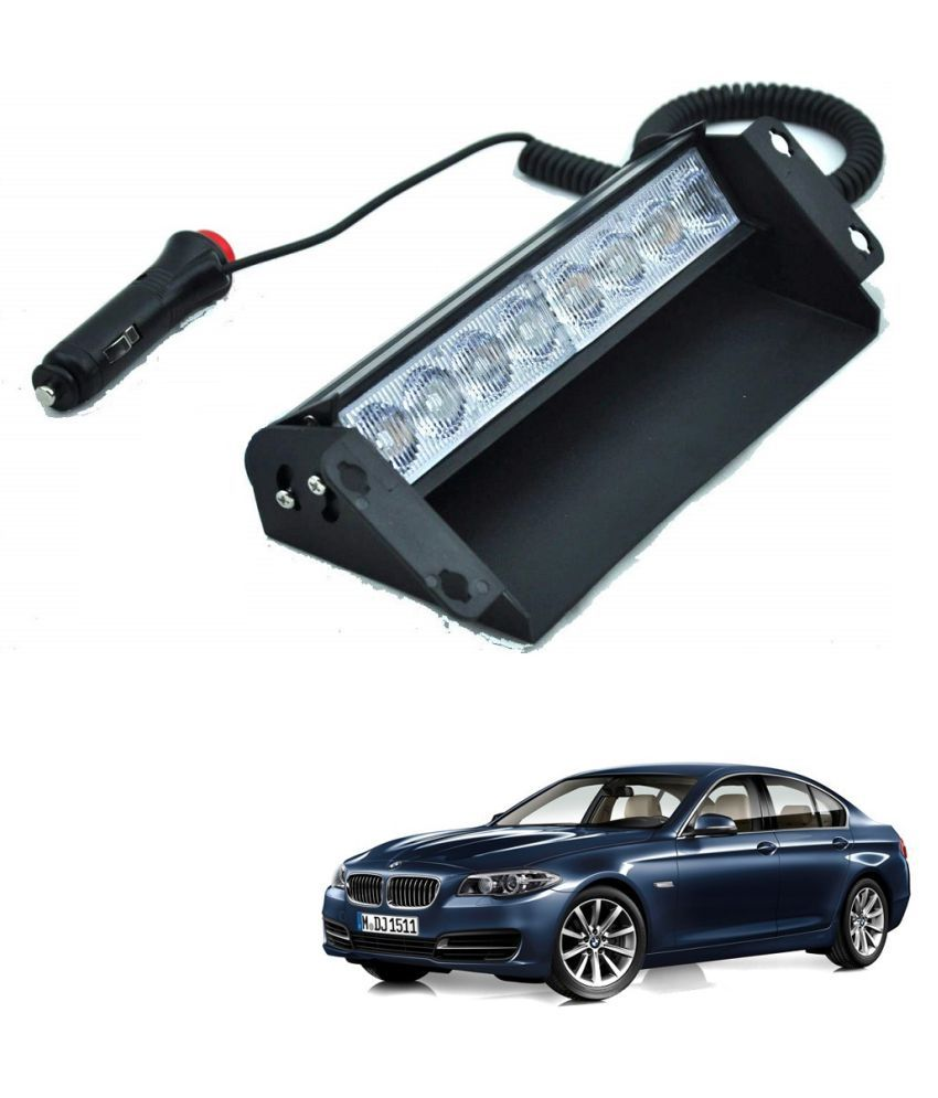 Auto Addict Car 8 LED Police Lights Flasher Light Red Blue Interior Lighting For BMW 5 Series