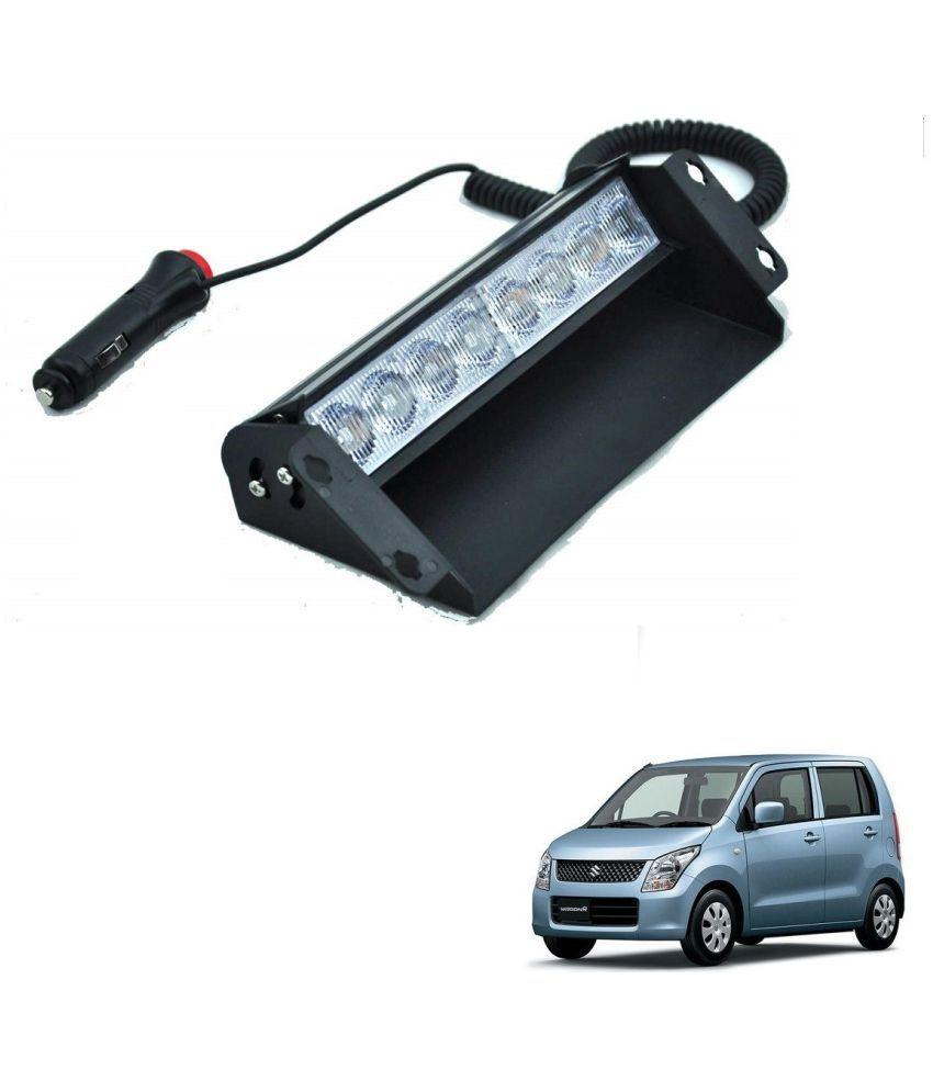 Auto Addict Car 8 LED Police Lights Flasher Light Red Blue Interior Lighting For Maruti Suzuki WagonR Type-2(2010-Present)