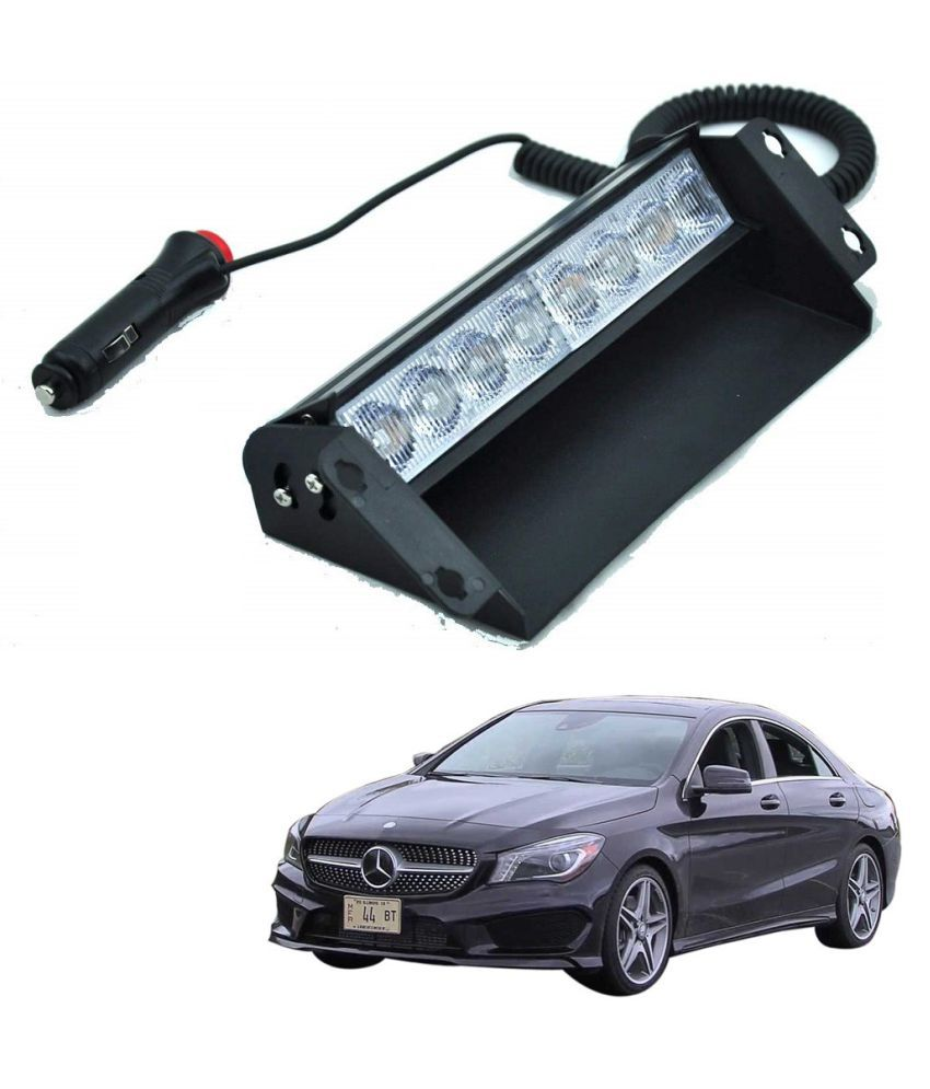 Auto Addict Car 8 LED Police Lights Flasher Light Red Blue Interior Lighting For Mercedes Benz CLA-Class