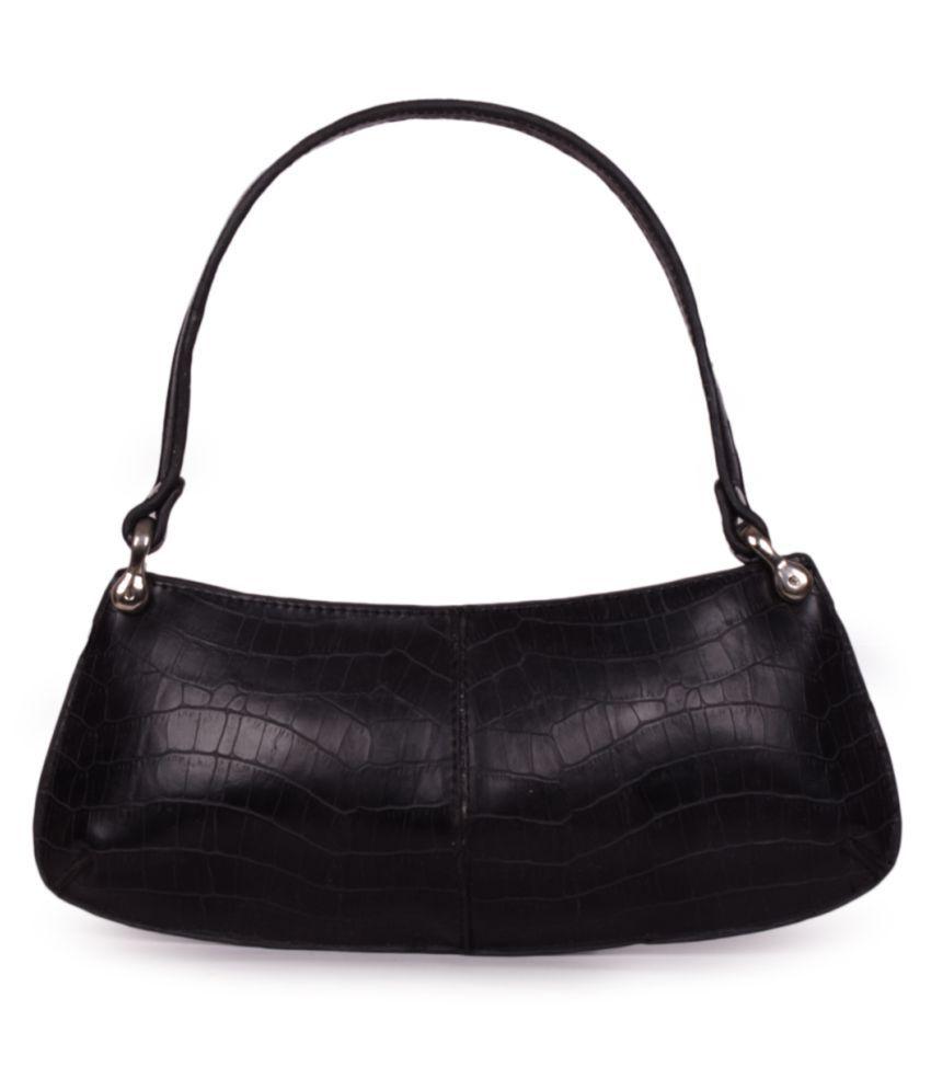 Bagkok Black P.U. Satchel Bag