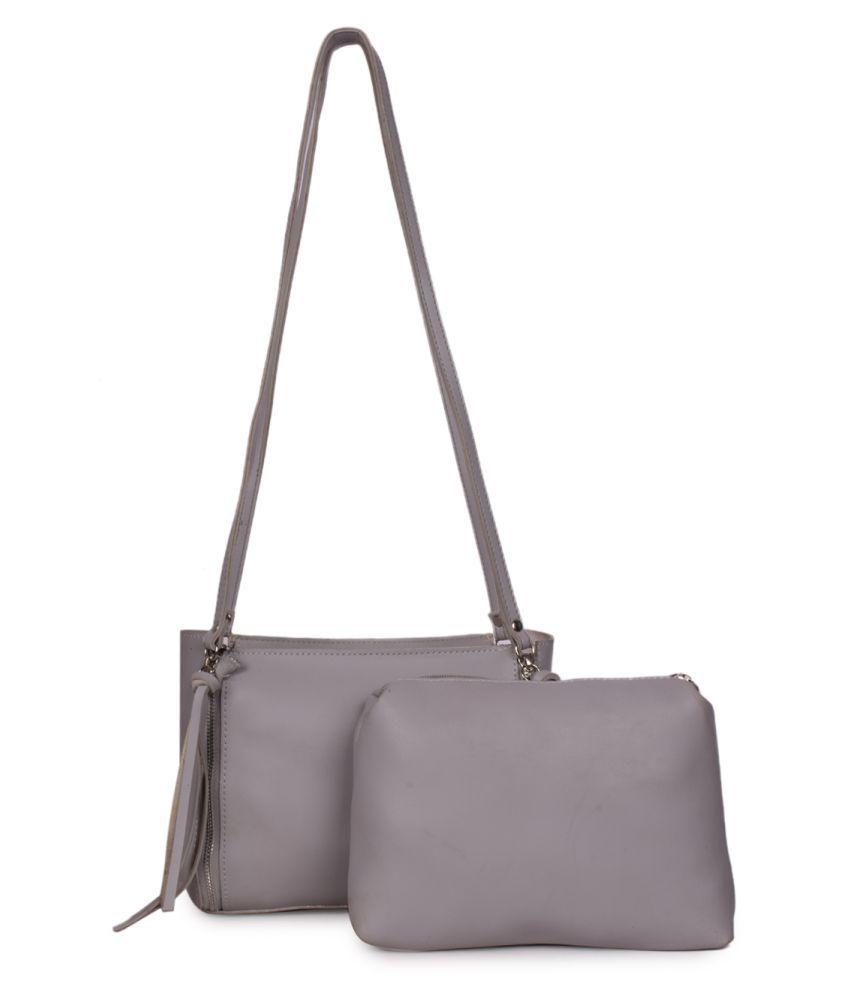 Bagkok Gray P.U. Sling Bag