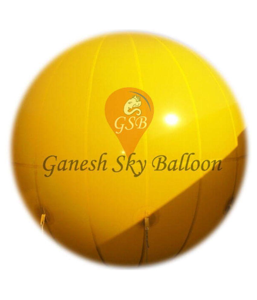 Ganesh Sky Balloon Advertising Yellow Colour Sky Balloon 10 feet