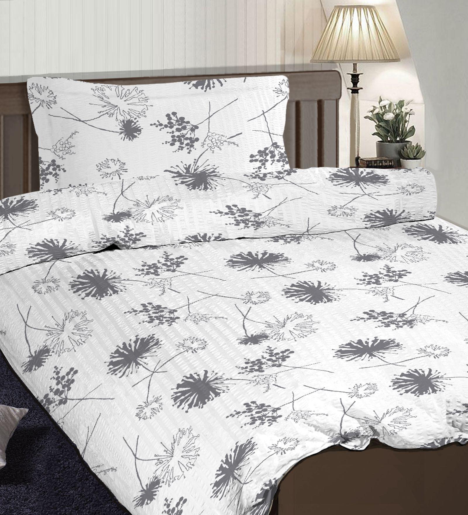 Pizuna Linens Single Cotton Gray Floral Dohar