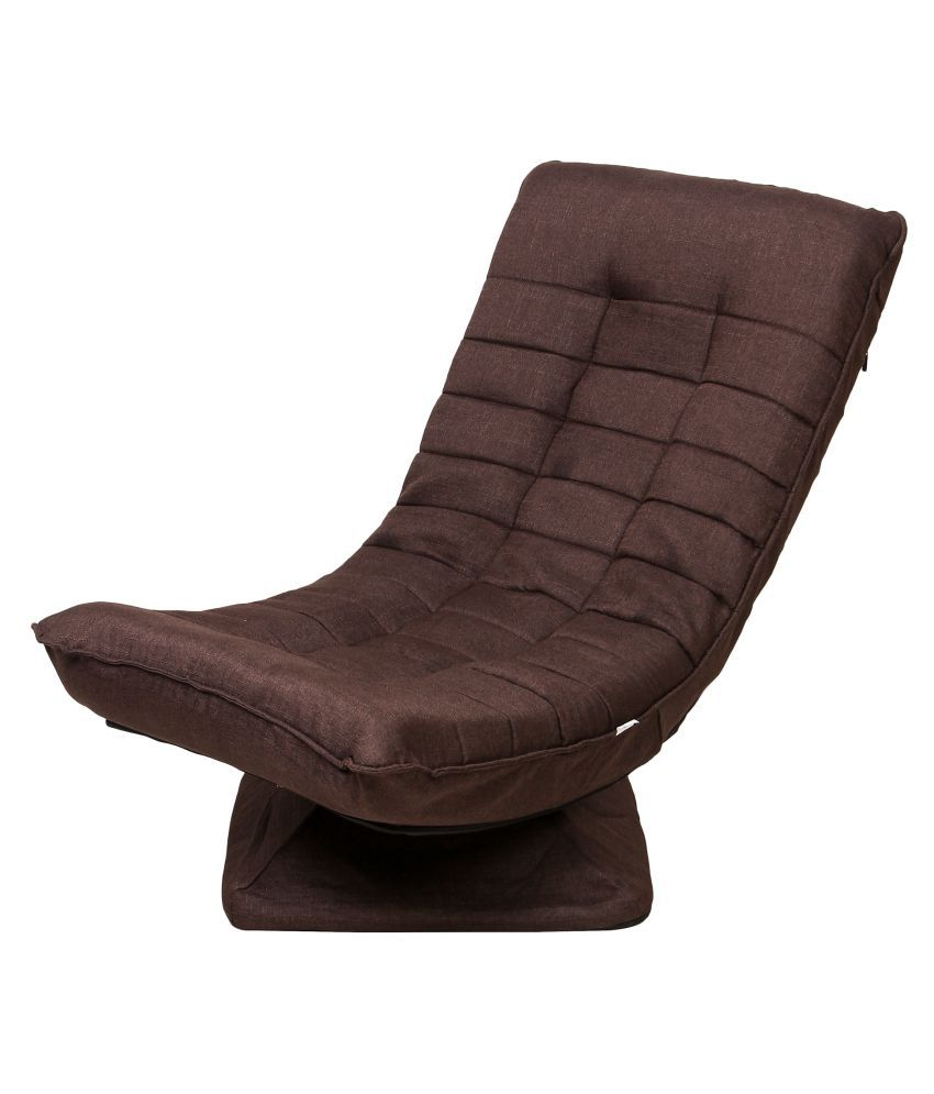 Uberlyfe 360 Degree Swivel Game Chair Folding Floor Lazy Sofa Chair Easy  Chair Suitable for Gaming and Relaxation - Dark Brown(FCH-001771-DKBR)