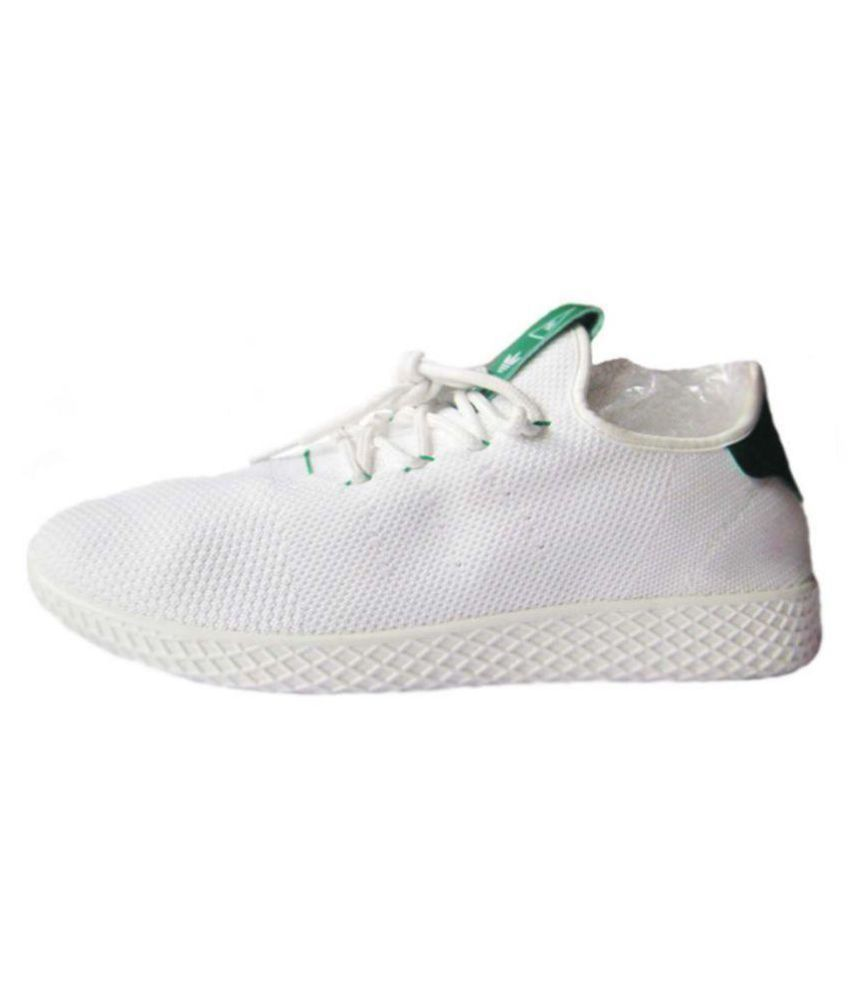 so cheap new style new arrivals Adidas Pharrell Williams HU White Tennis Shoes