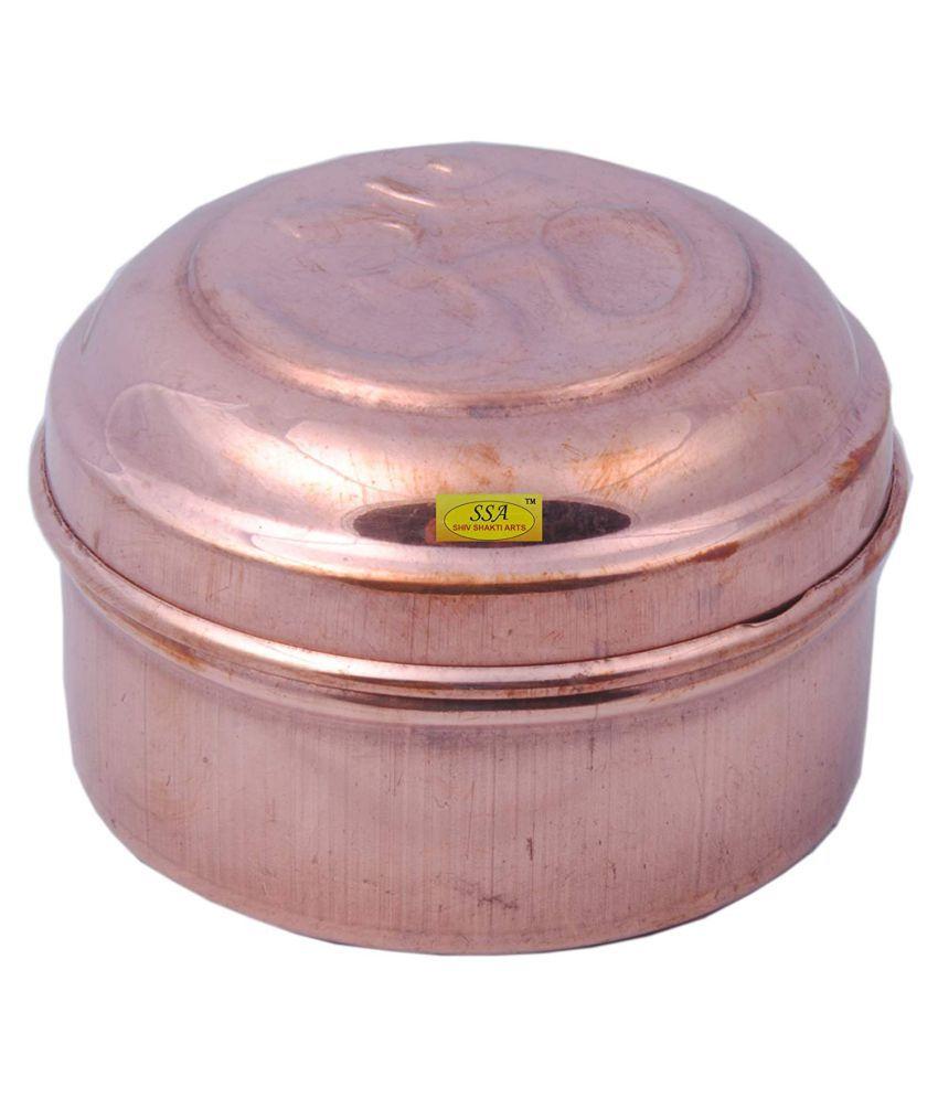 Shiv Shakti Arts box for storage Copper Food Container Set of 1 100 mL