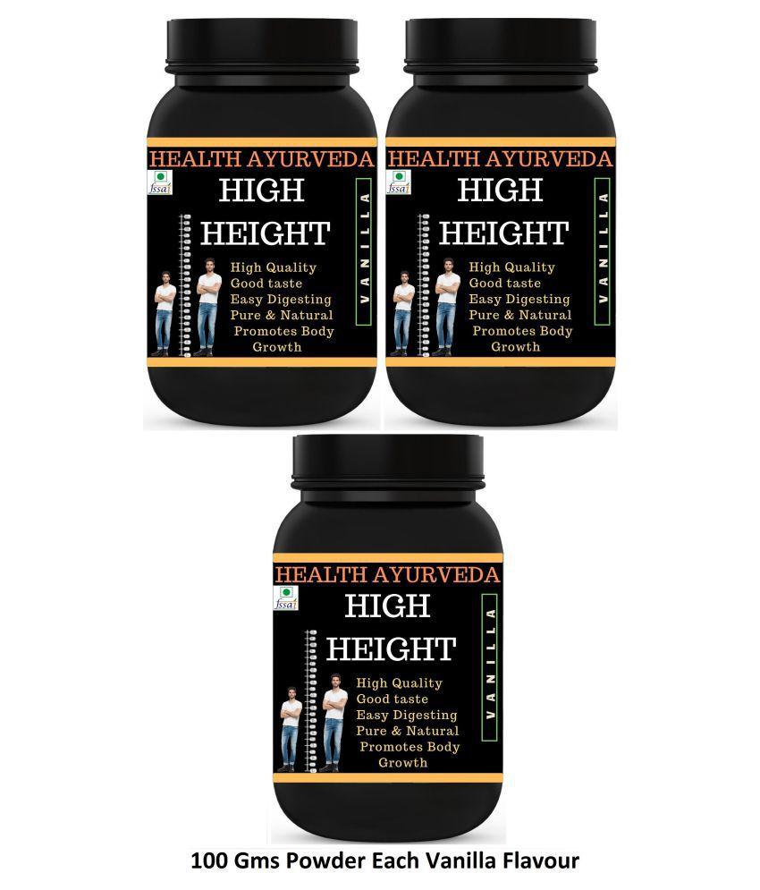 Health Ayurveda High Height Vanilla Flavour Powder 300 gm Pack of 3