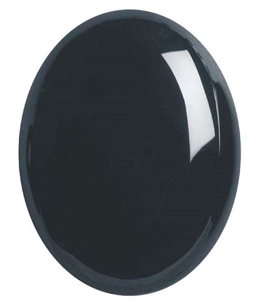 Tejvij And Sons 4.25 -Ratti Self certified Black Onyx Semi-precious Gemstone