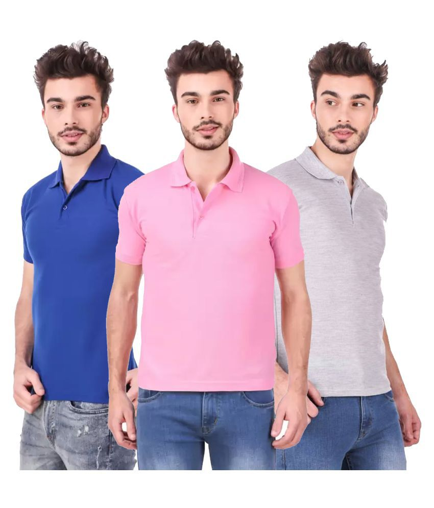 Freely Polyester Cotton Grey Solids T-Shirt