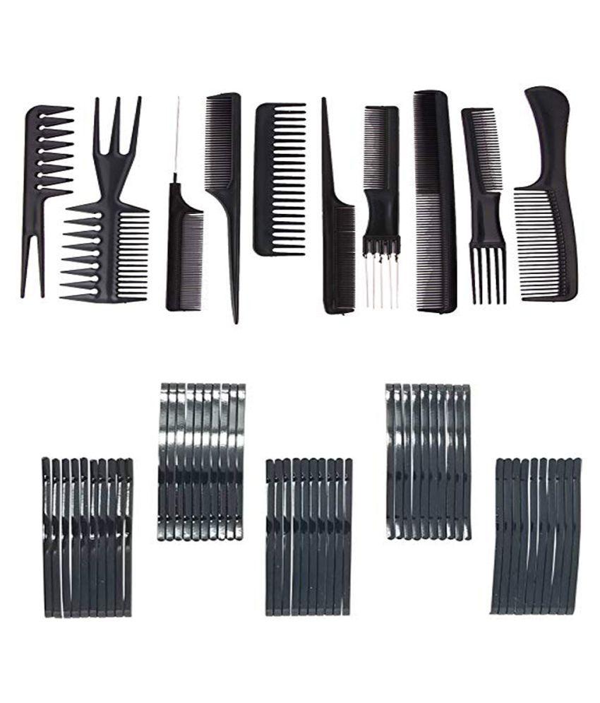 BELLA HARARO Cobms set of 10Pcs and Hairclips 48 10 Pack of 2