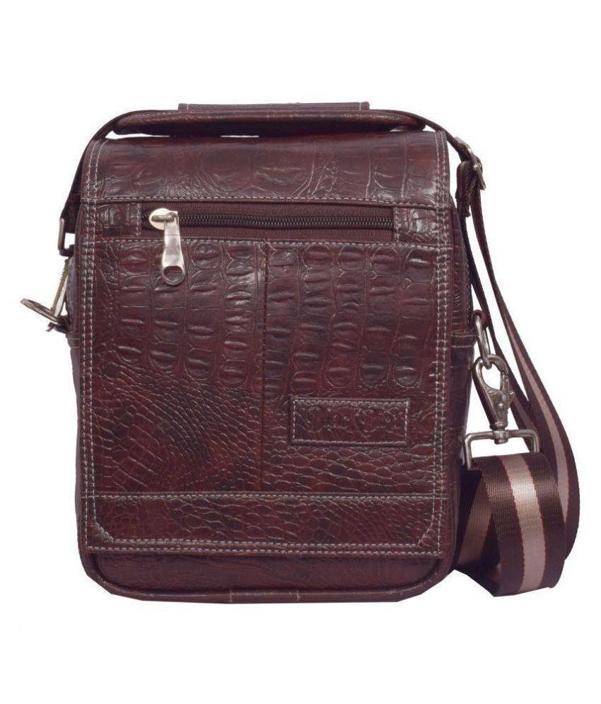 Blackbird Brown Synthetic Office Messenger Bag