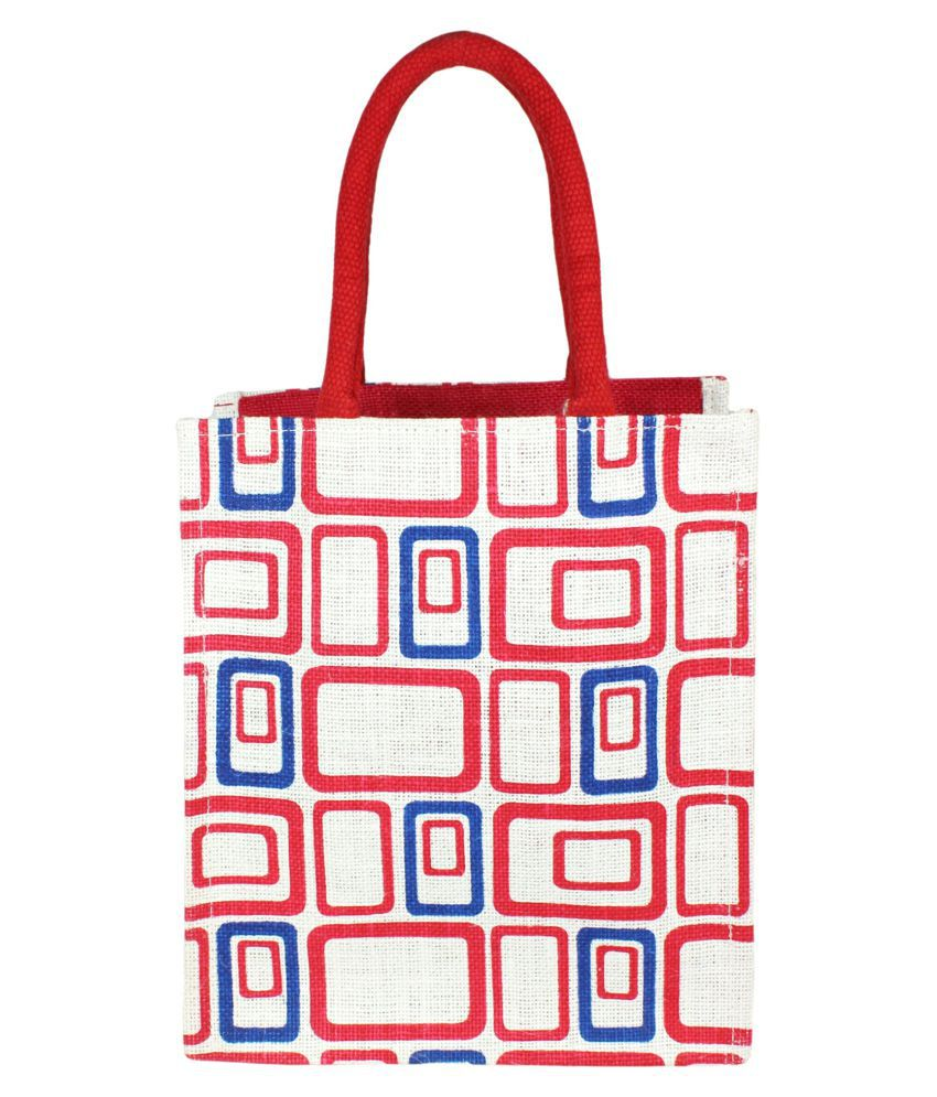 Neska Moda Red Lunch Bags - 1 Pc