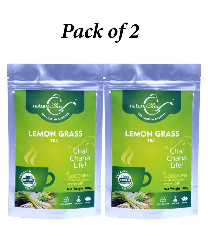 nature Chai Lemongrass Tea Loose Leaf 100 gm Pack of 2