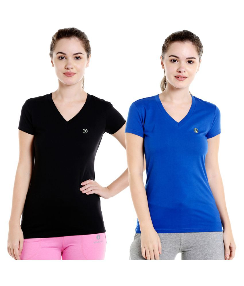 Bodyactive Pack of 2 Women's Solid Color Tshirts