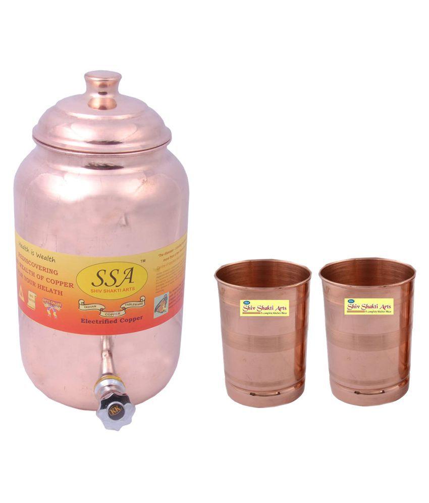 Shiv Shakti Arts 1 Pot & 2Glass Combo 2 Pcs Lemon set