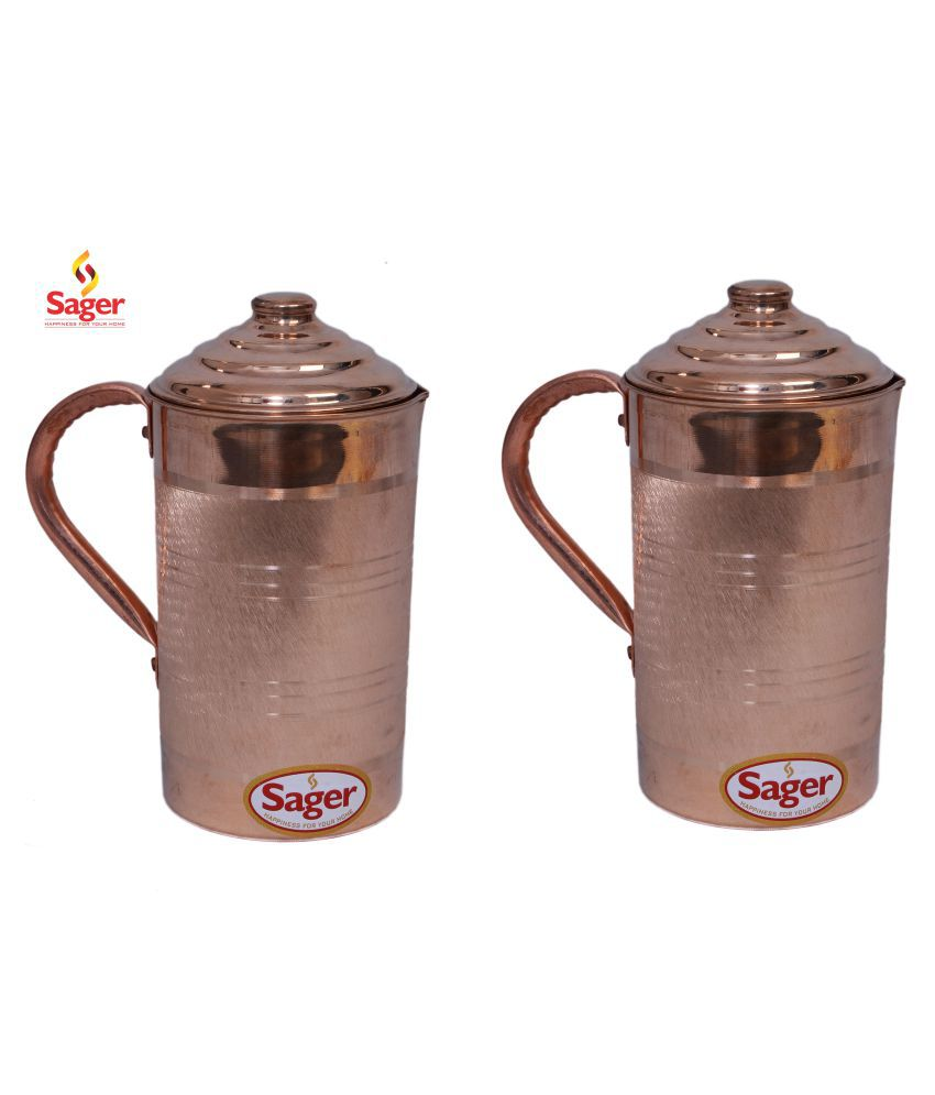 SAGER SET OF 2 Copper Jugs 2000 mL